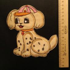 Аппликация детская Собачка №1 , цвет золотой
