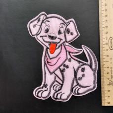 Аппликация детская Собачка №2 , цвет розовый