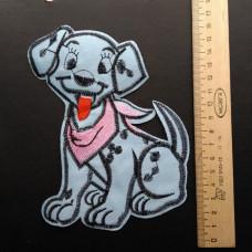 Аппликация детская Собачка №2 , цвет голубой