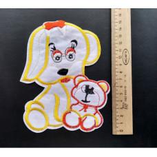 Аппликация детская Собачка №3 , цвет белый