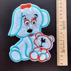Аппликация детская Собачка №4 , цвет голубой
