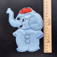 Аппликация детская Слоник №1 , цвет голубой