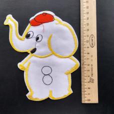 Аппликация детская Слоник №1 , цвет белый