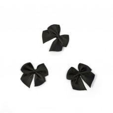 Бантики черные (250 шт в уп)