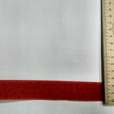 Липучка (пара) 25мм красная (25м-рулон), Рул