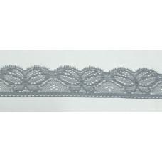 Кружево эластичное 3см (100м) серый, Рул