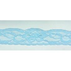 Кружево эластичное 4см (100м) голубой , Рул