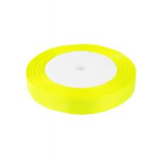 Лента атлас 1,2см 108 яд. желтый, шт