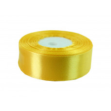 Лента атлас 2,5см 110 (33ярд в рул) желтая, шт