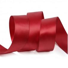Лента атлас 2,5см 148 (33ярд в рул) красный, шт