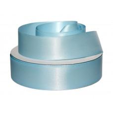 Лента атлас 2,5см 184 (33ярд в рул) голубой, шт