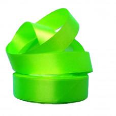 Лента атлас 2,5см (33ярд в рул) ярко-салатовый, шт