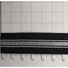 Лента лампасная, серебро, 20 мм (45м)