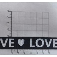 "Лента репсовая 20мм ""love"", 45м"