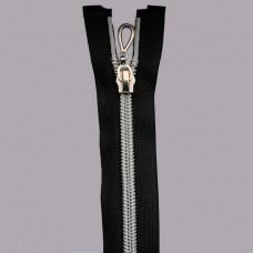 Молния декоратив 20см  322 черный  серебро, шт.
