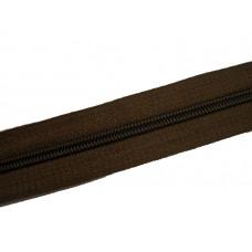 Молния рулонка Т5 200м в мотке G303 темно-коричневый 15 гр, м