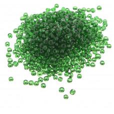 Бисер (450 г) зеленый, прозрачный