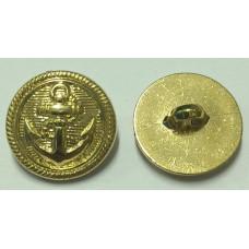 Пуговицы золотые якорь 25мм 200 штук