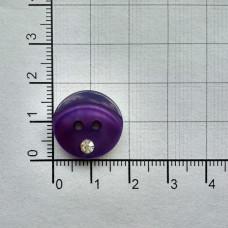 Пуговицы перламутровые со стразом , №18, (уп. 500шт.), 170 фиолетовый