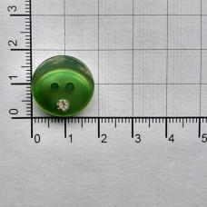 Пуговицы перламутровые со стразом , №18, (уп. 500шт.), 239 зеленый