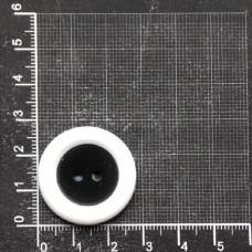 Пуговицы, 28 мм (44L), упак 100 шт. черно-белый