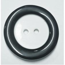 Пуговицы белые черным ободом 28мм 100 штук
