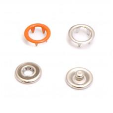 Кнопки 9,5мм оранжевый (кольцо) 1440 штук в упаковке