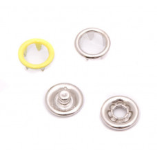 Кнопки 9,5мм желтые (кольцо) 1440 штук в упаковке