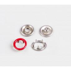 Кнопки 9,5мм красный (кольцо)   1440 штук в  упаковке