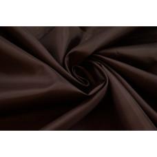 Ткань подкладочная 170Т П/Э темно коричневый (рулон-100 м), м